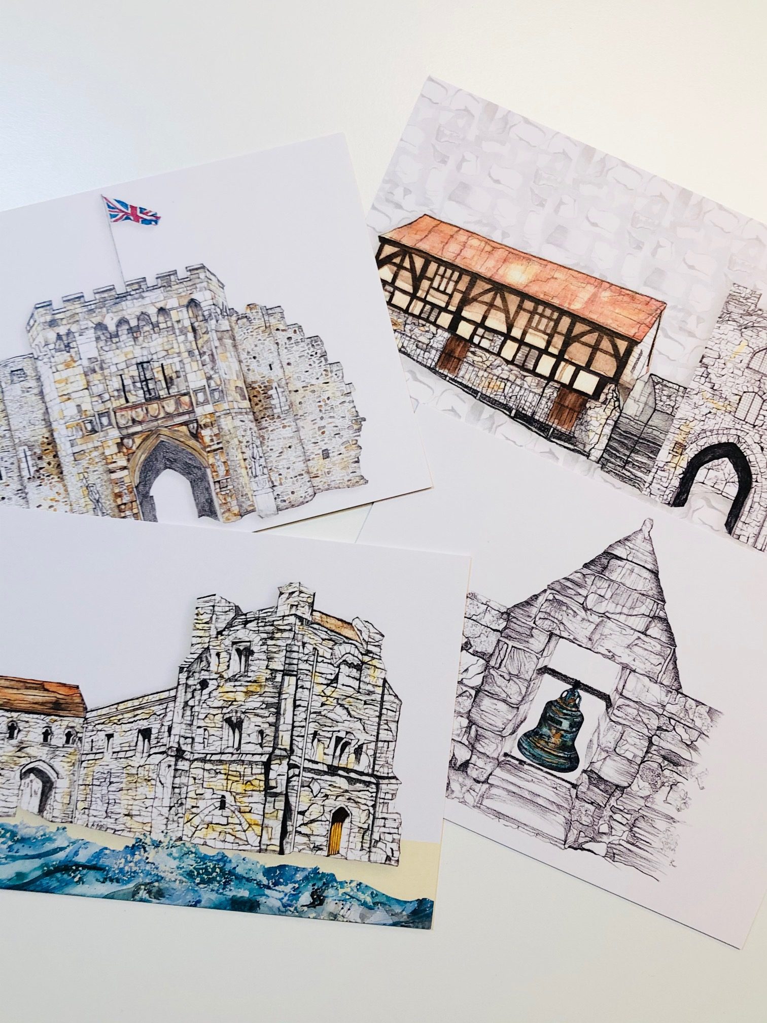 A6 Pack of Four Southampton Postcards by Rachel Reynolds