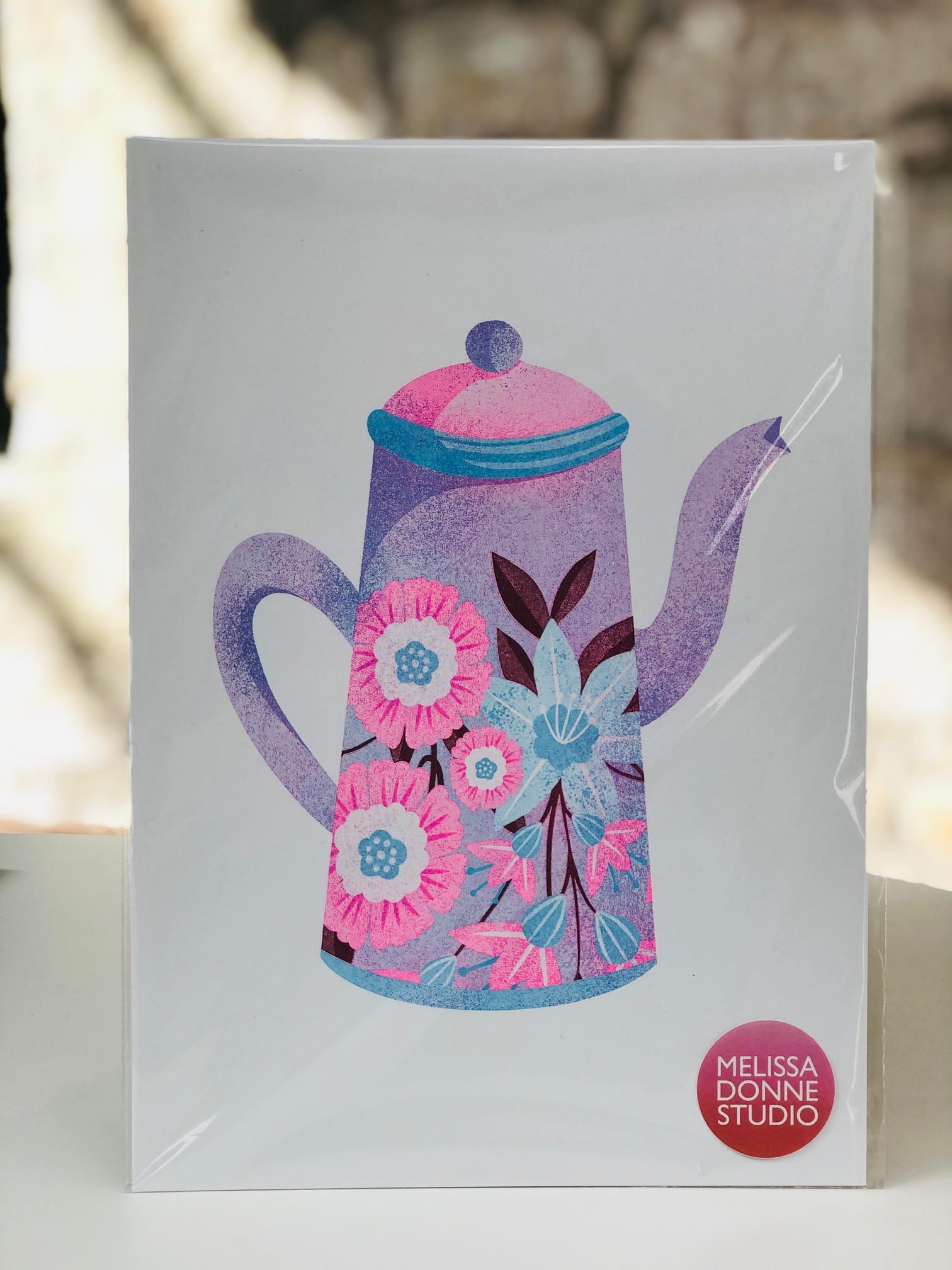 Risograph Print Coffee Pot by Melissa Donne