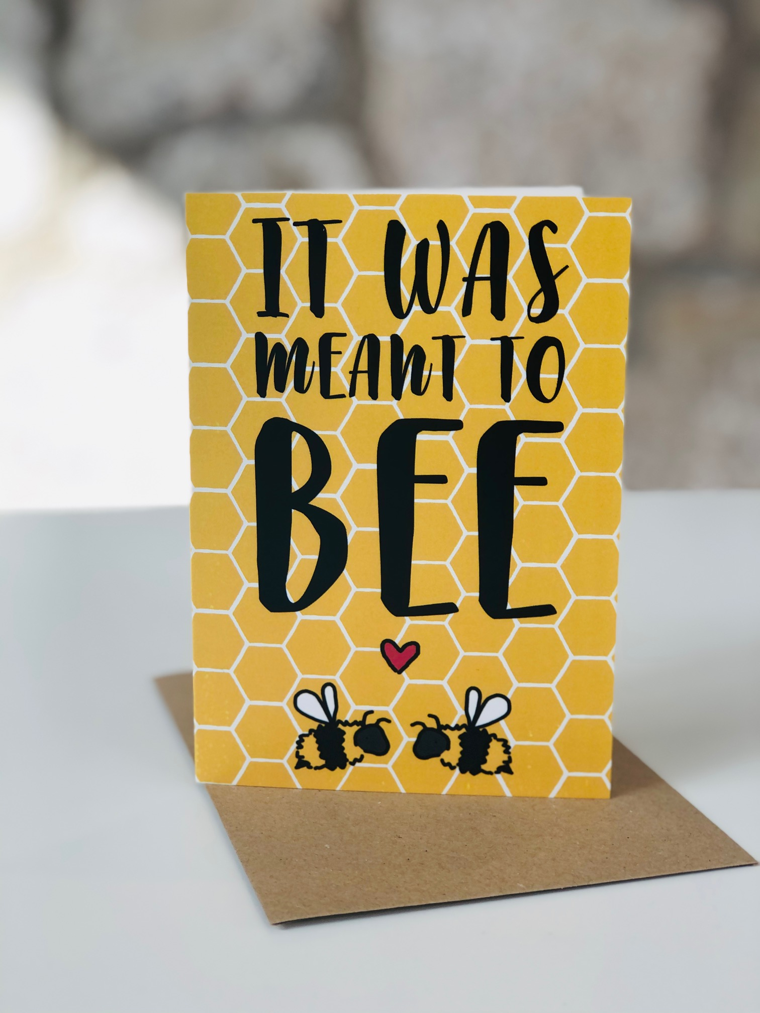 'Meant to Bee' Greetings Card by Emma