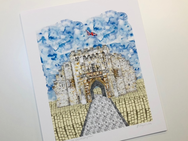 The Bargate Giclee Print by Rachel Reynolds