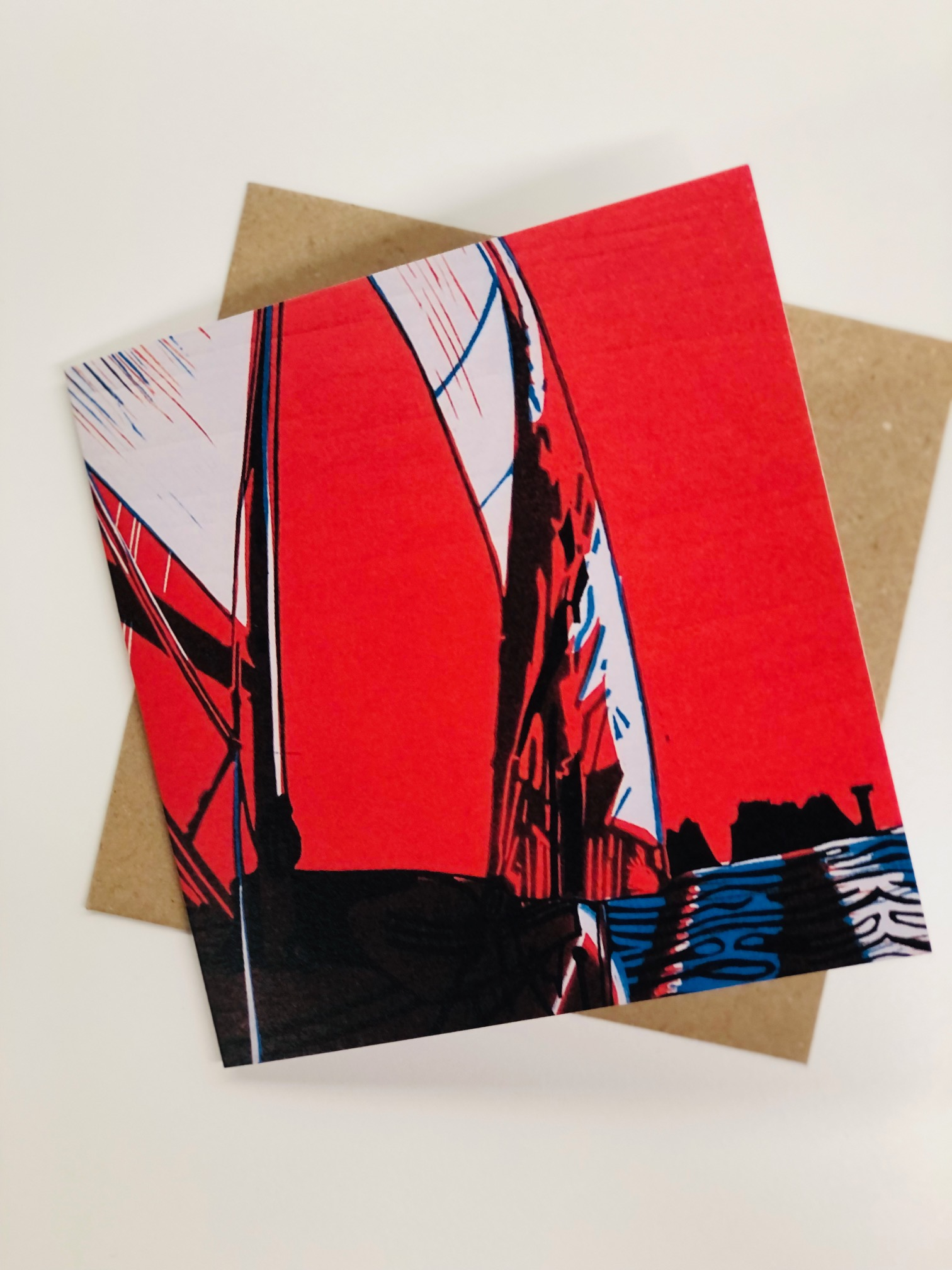 'Sailing to the Isle of Wight' Greetings Card by Aylsa Williams