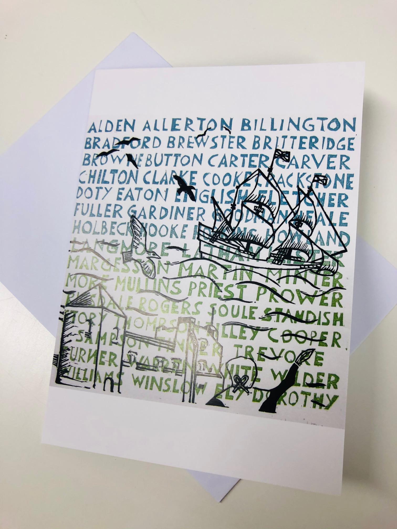 'To a New Life' Greetings Card by Barbara Hamilton