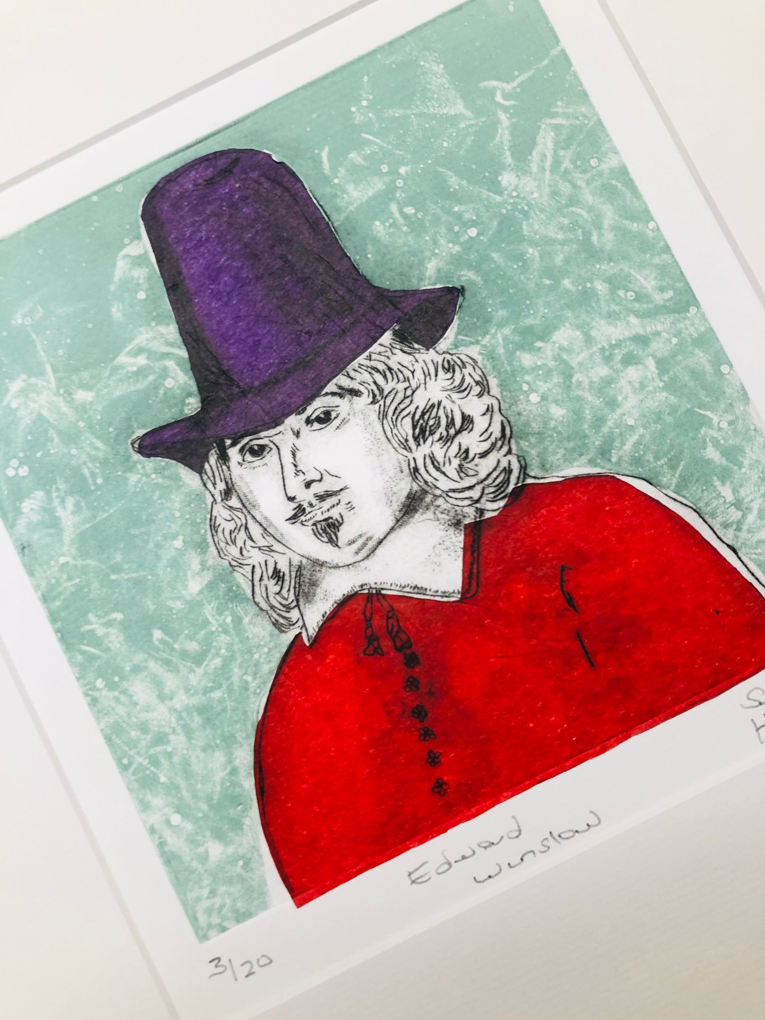 'Edward Winslow' Limited Edition Print by Sue Howard