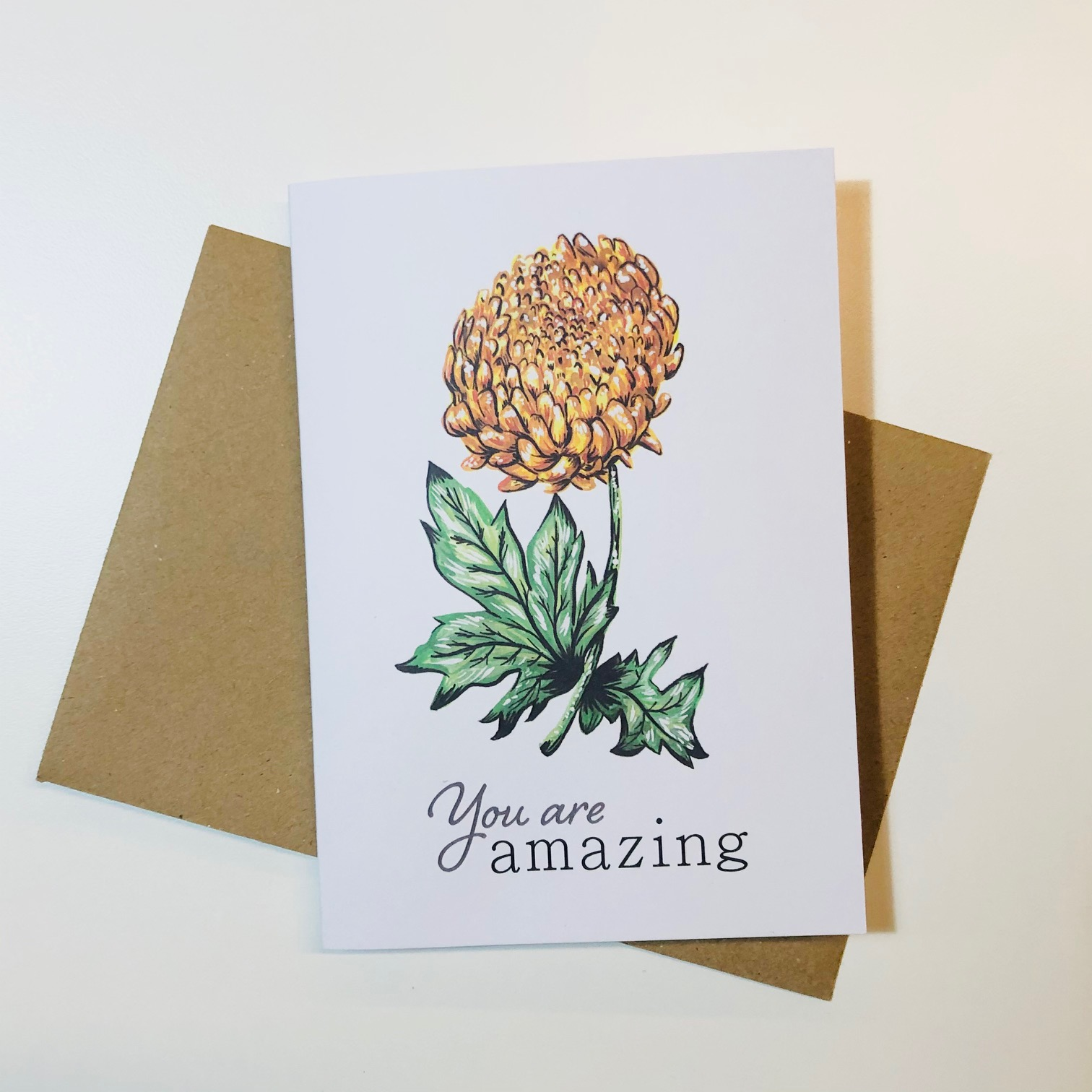 Botanical Greetings Card by Amy Harwood