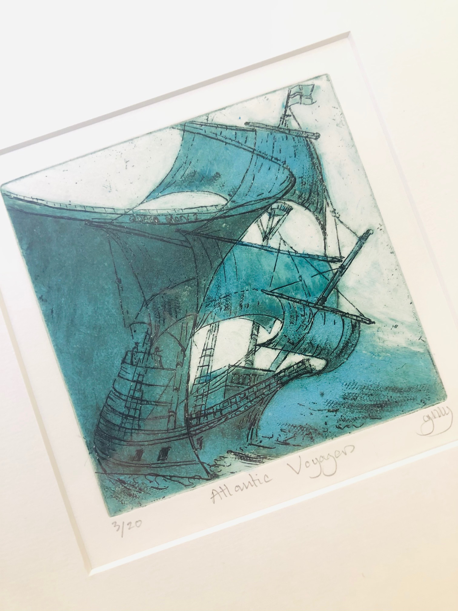 'Atlantic Voyagers' Limited Edition Print by Jenny Goodhand