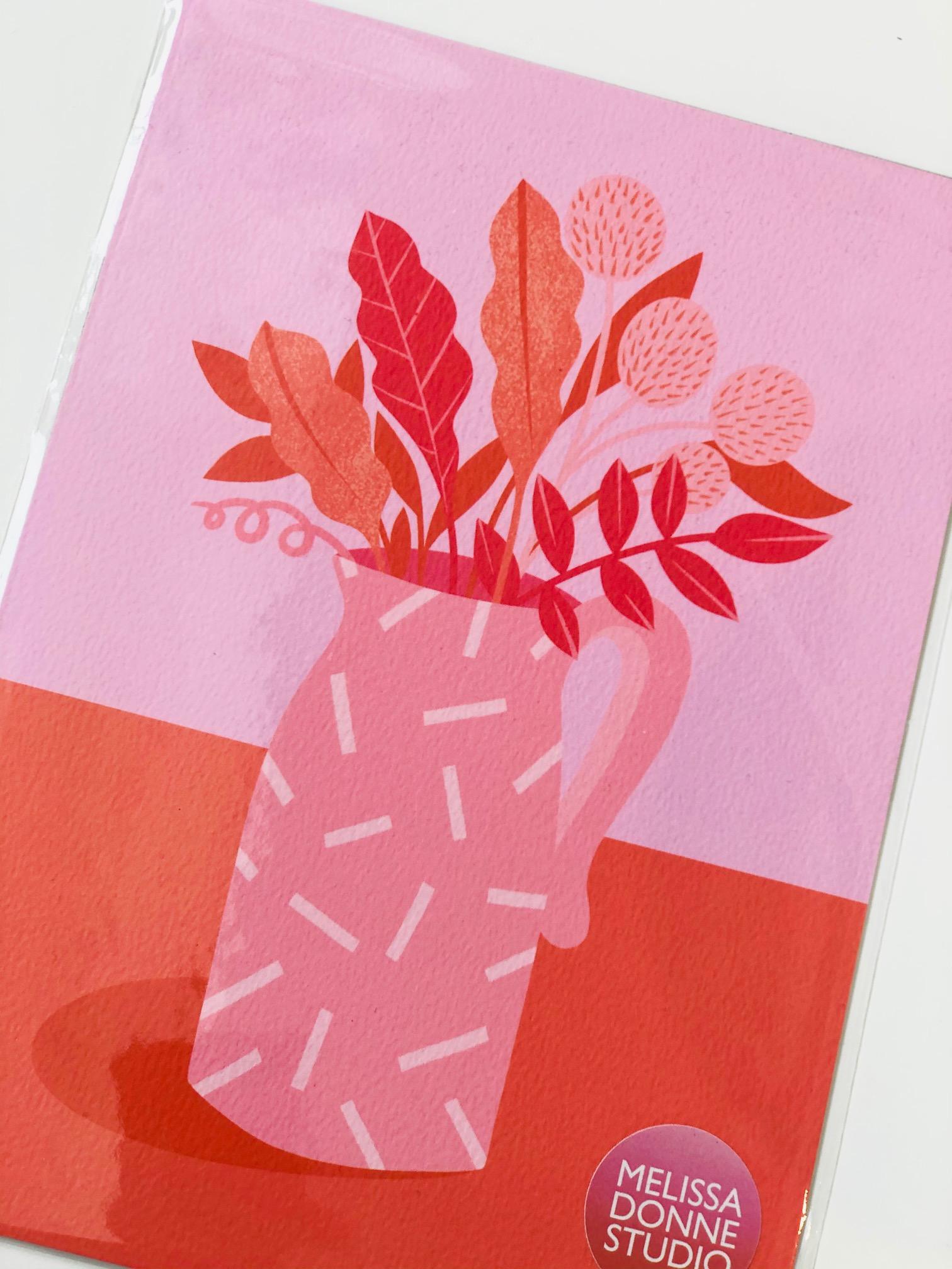 A3 Digital Print 'Leaves in Jug' by Melissa Donne