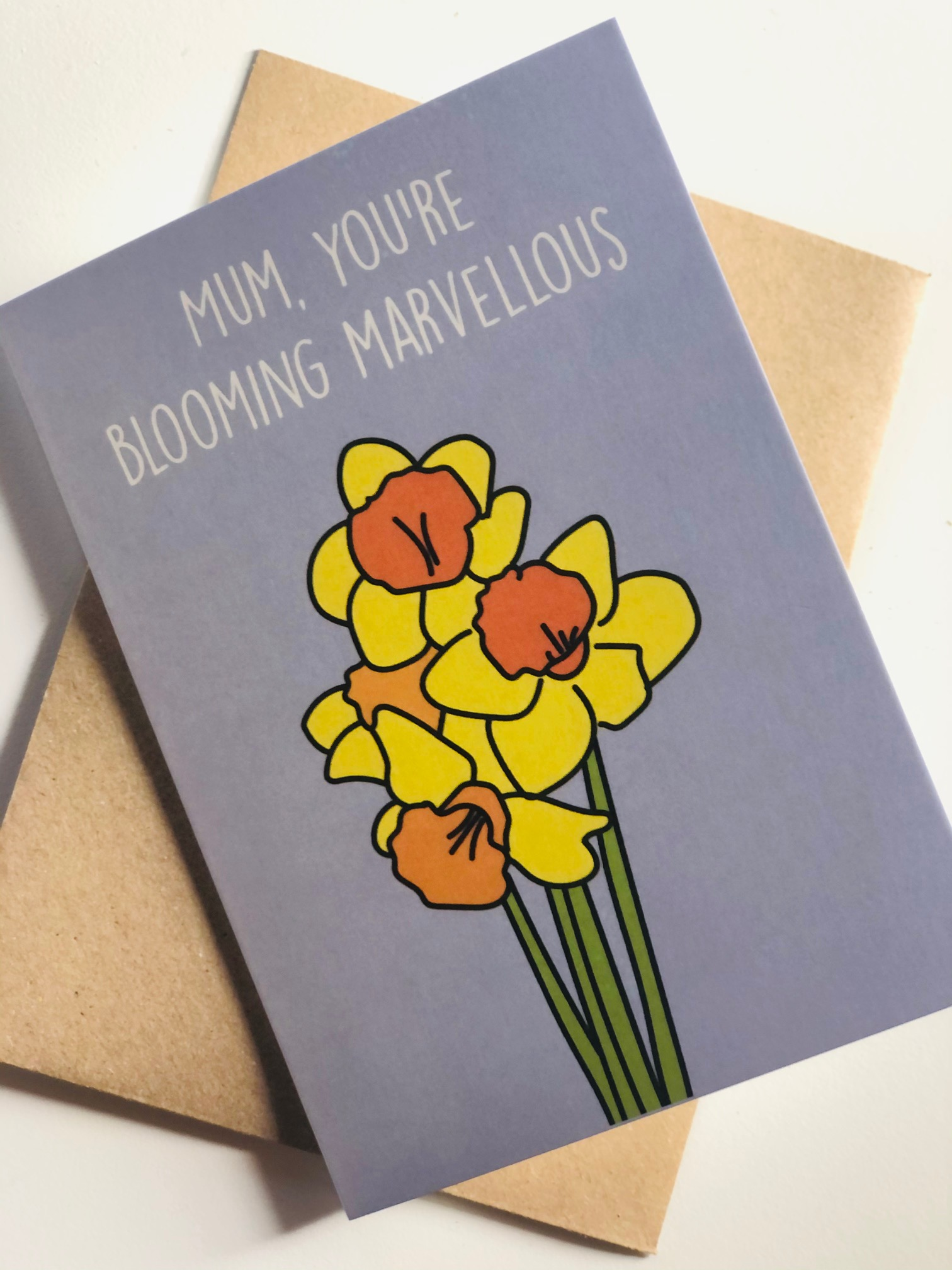 'Blooming Marvellous' Greetings Card by Emma