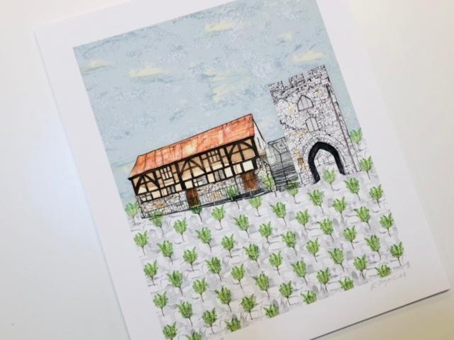 Westgate Hall Giclee Print by Rachel Reynolds
