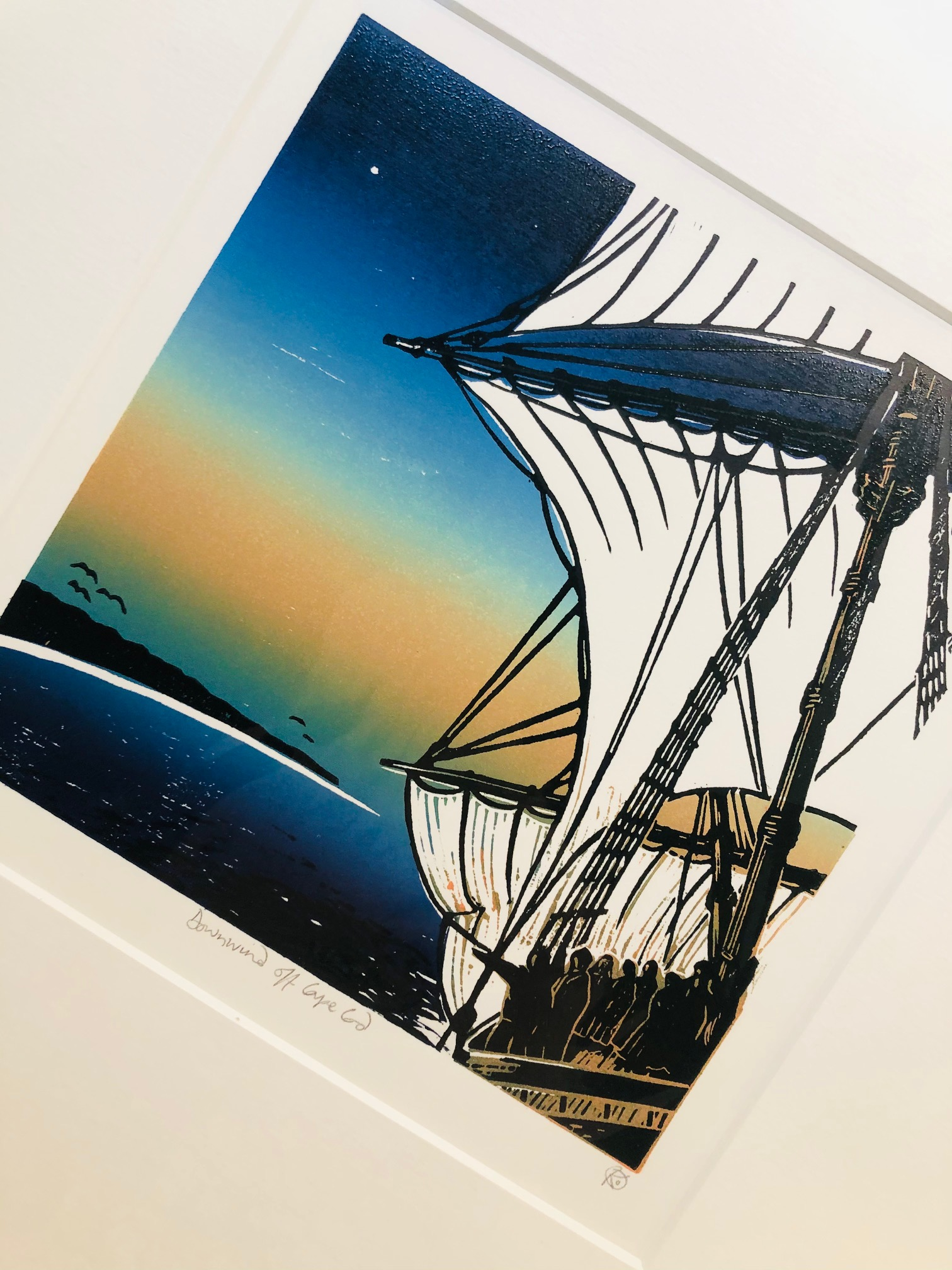 'Downwind off Cape Cod' Limited Edition Print by Kay Brown
