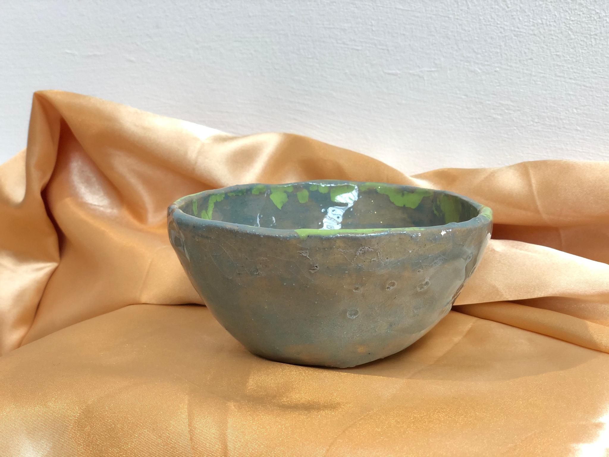 Medium Blue and Green Ceramic Bowl by Alex Sutherland