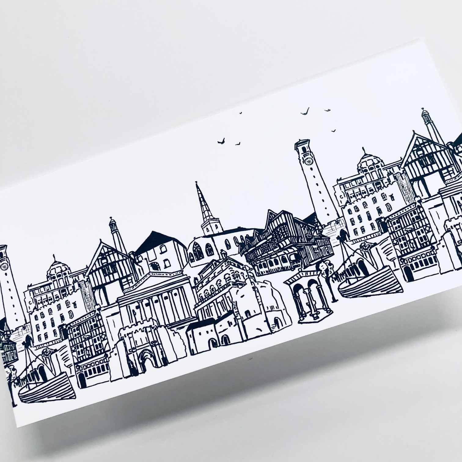 Cityscape Greetings Card by Mandy Smith