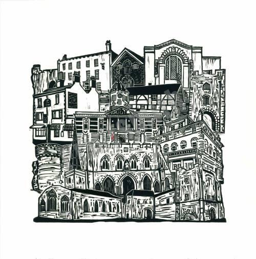 Mini Southampton Old Town Print by Mandy Smith