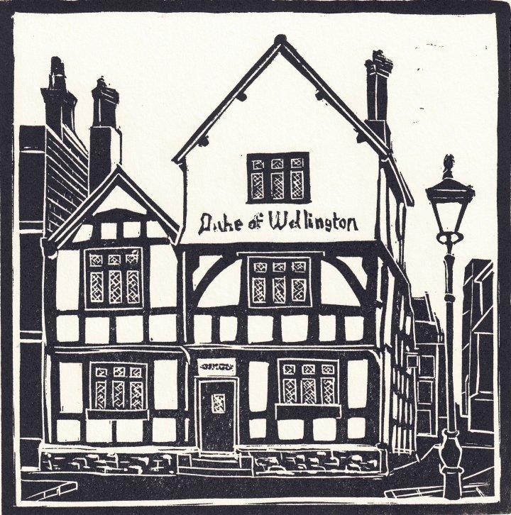The Duke of Wellington Linocut Print by Carole Westbrook