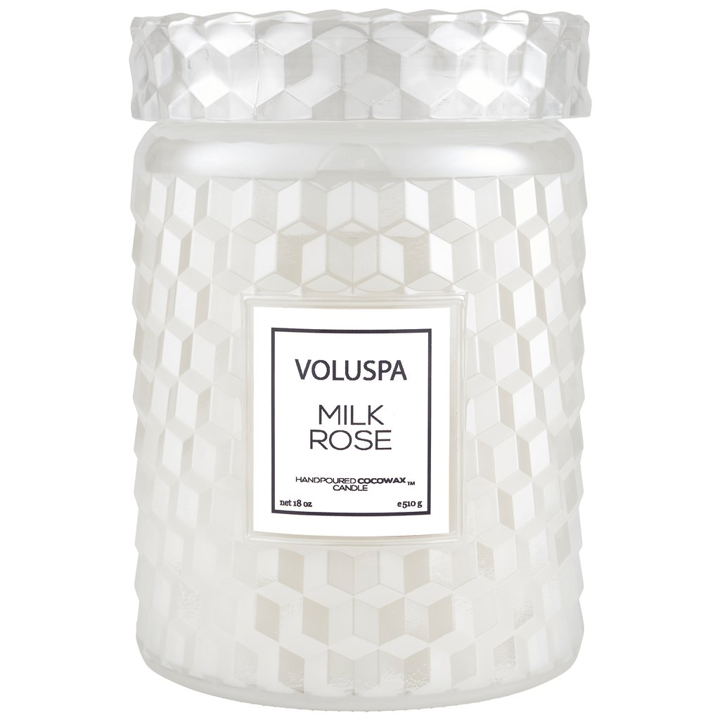 MILK ROSE LARGE JAR CANDLE