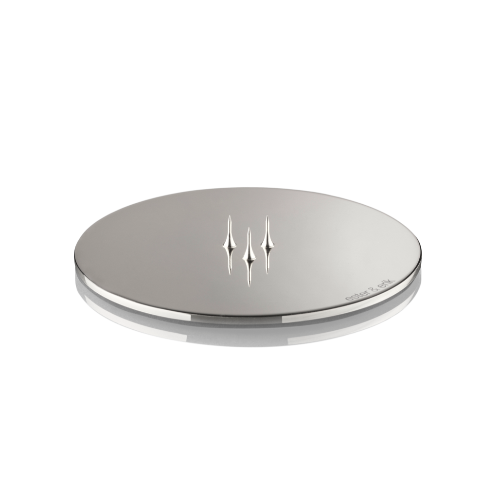 CANDLE PLATE SHINY SILVER