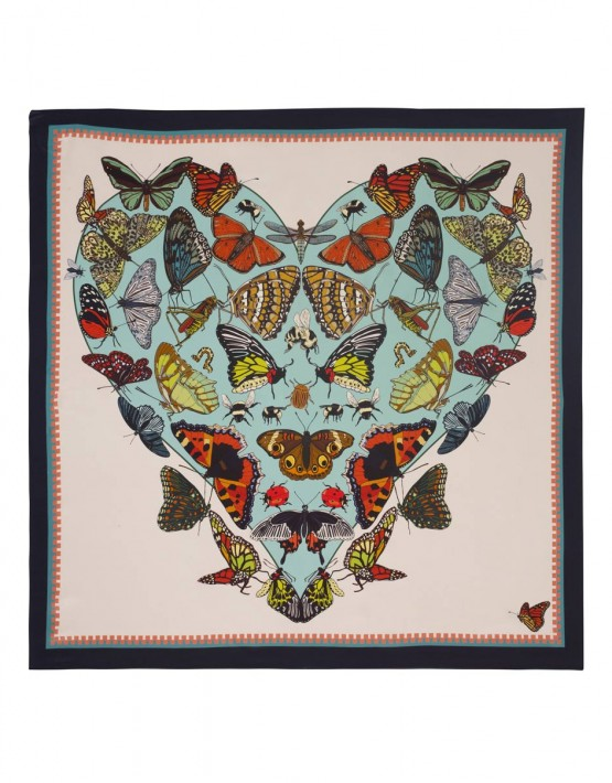 BUTTERFLIES AND BEASTICLES SILK SCARF