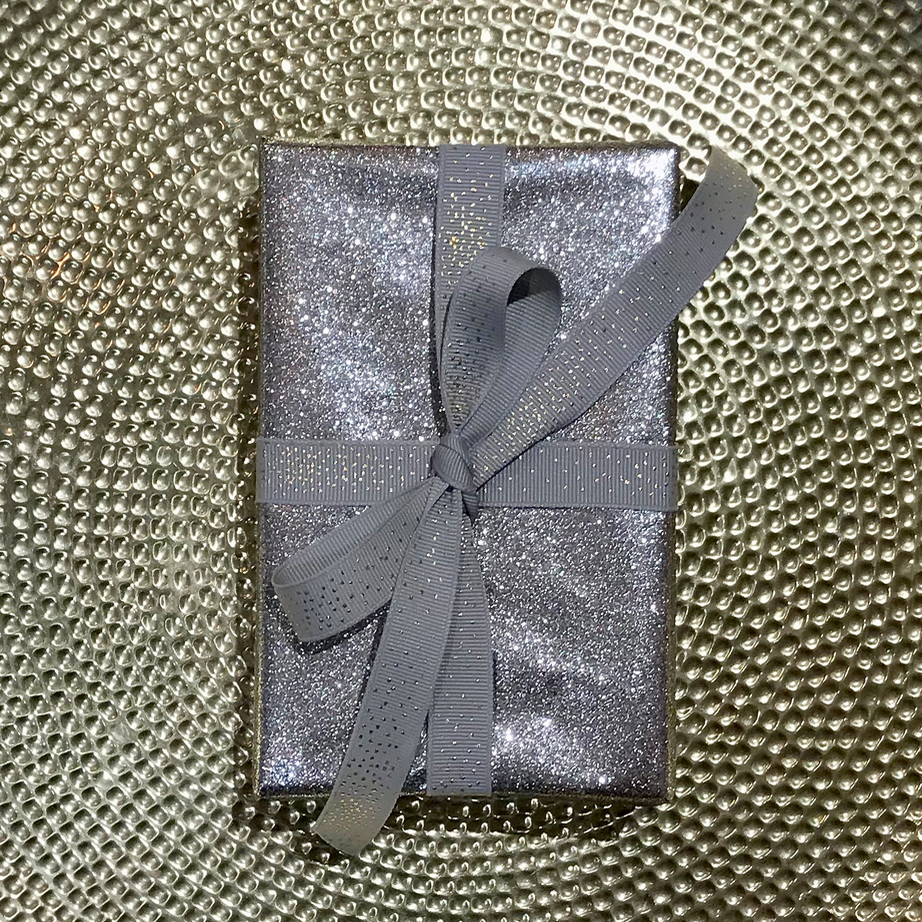WRAPPING PAPER JADE GLITTER