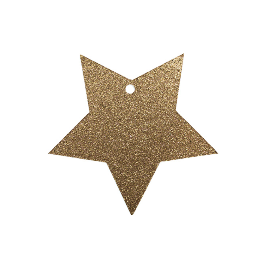 TO & FROM TAG GLITTER GOLD STAR