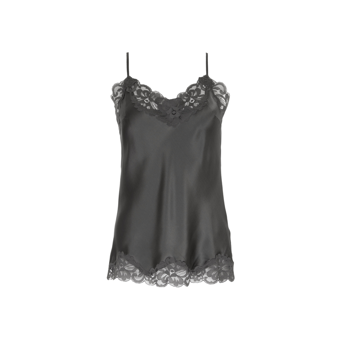 FLORAL LACE CAMI PEWTER