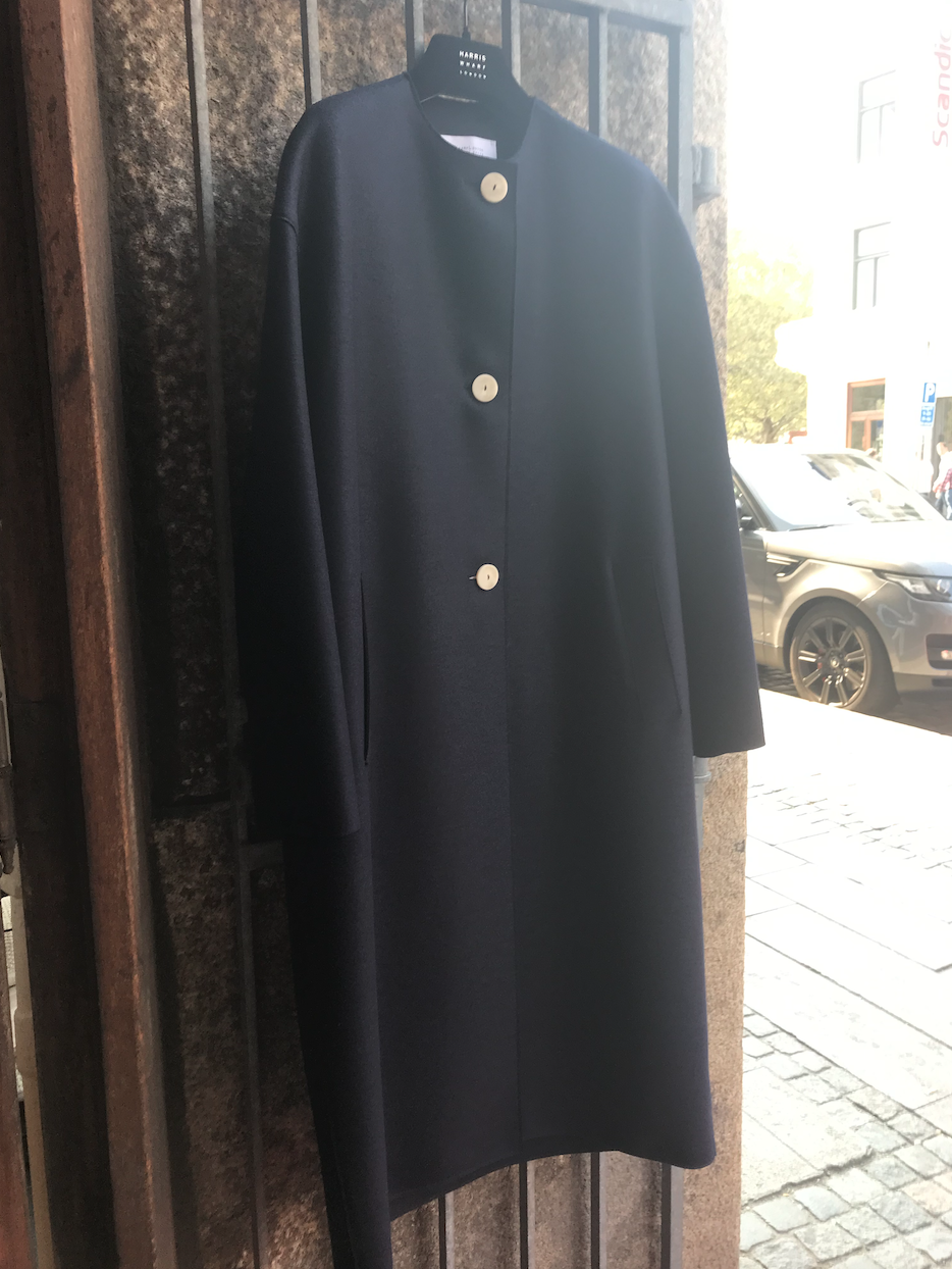 LONG OVERSIZED COAT NAVY