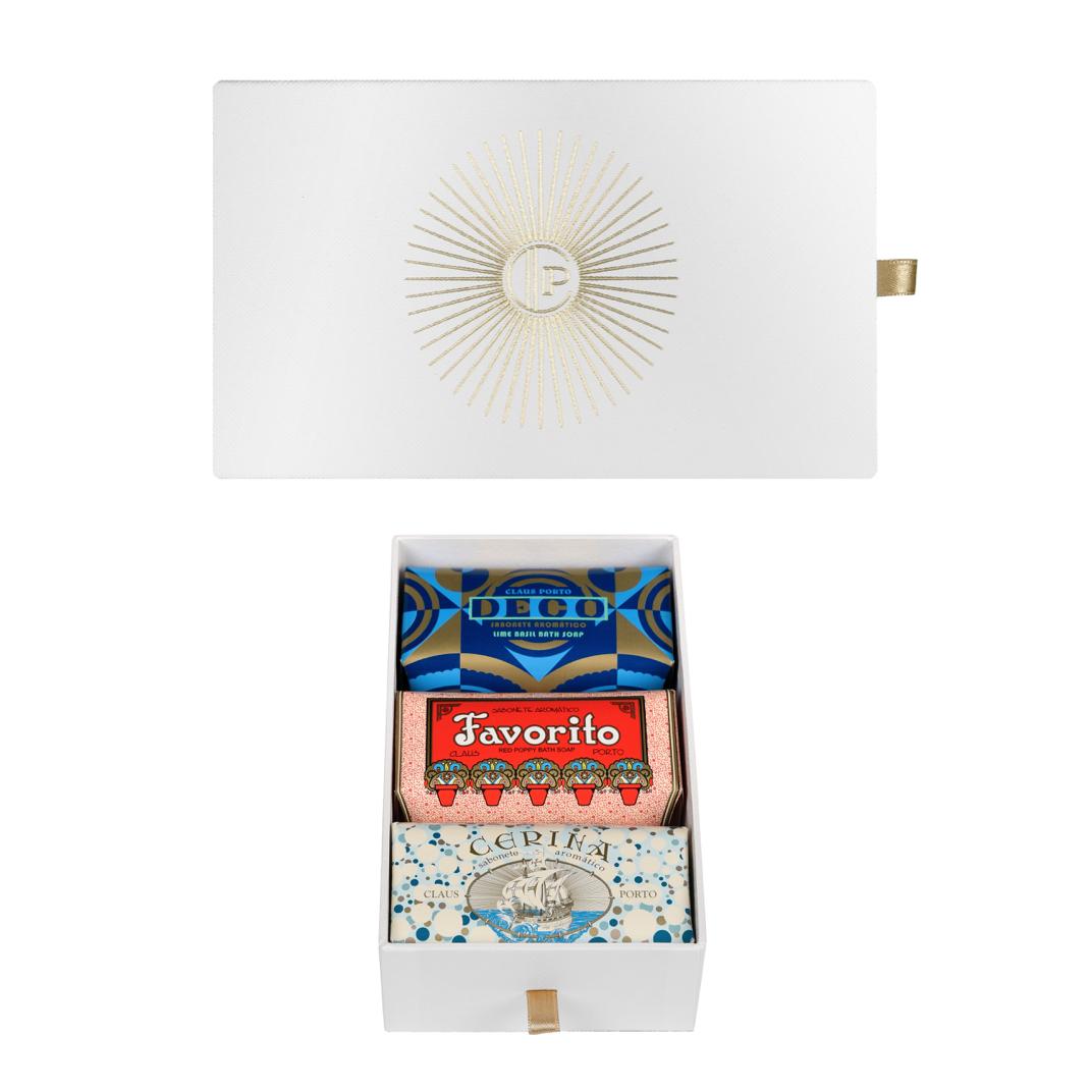 GIFT BOX DECO - 3X150G SOAPS