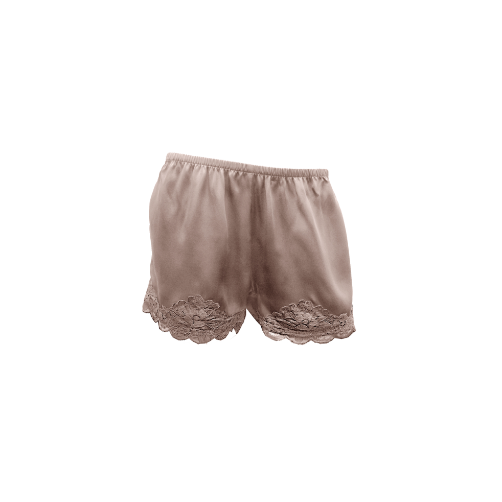 FLORAL LACE SHORTS ROSE TAUPE