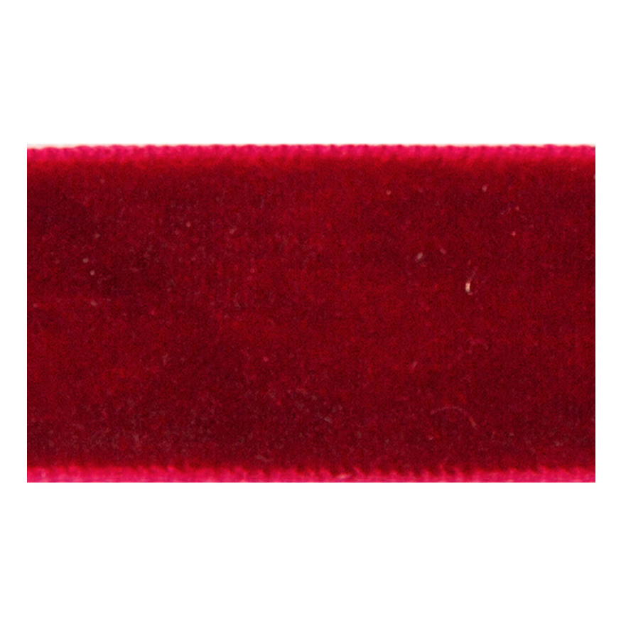 VELOUR RIBBON RED