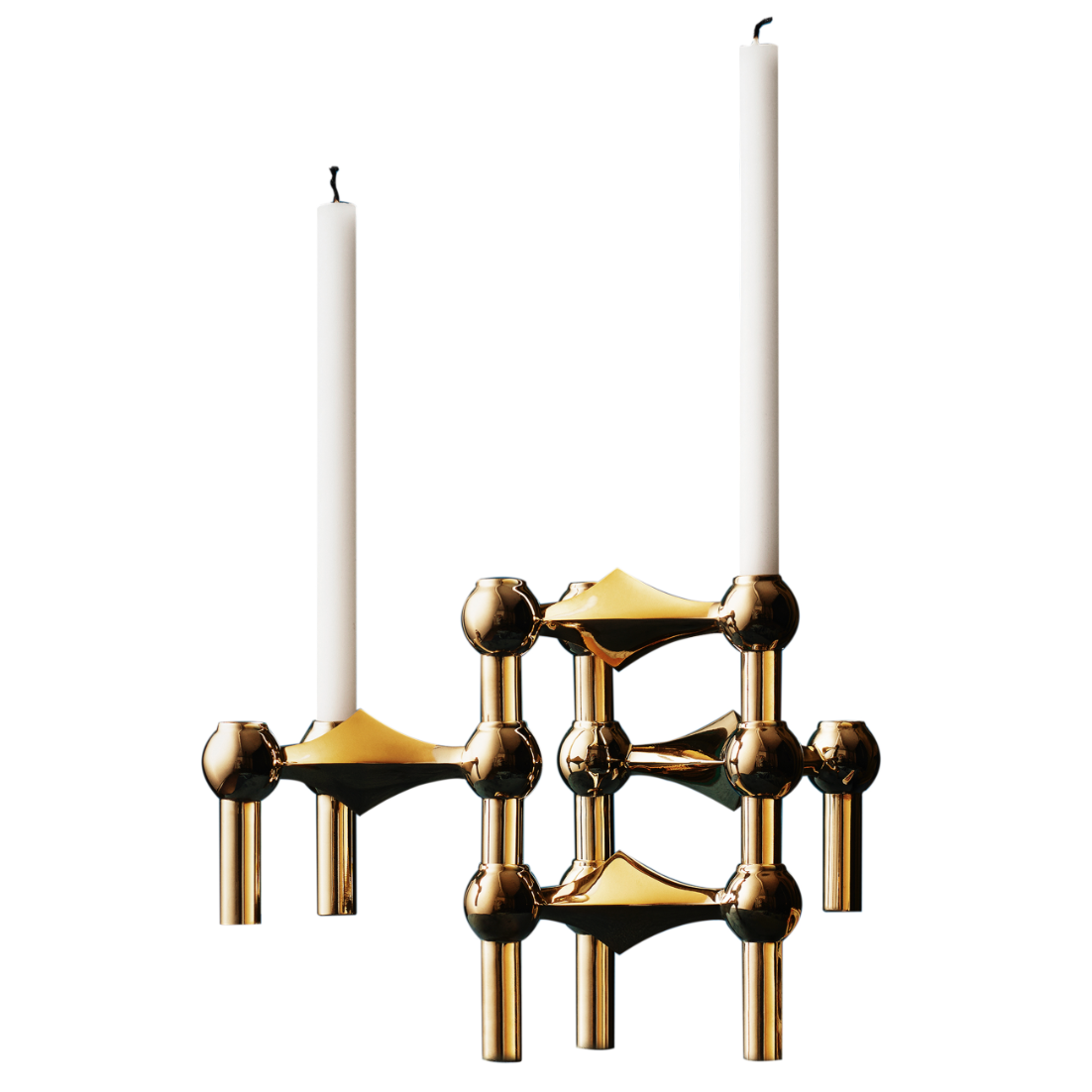 STOFF NAGEL CANDLE HOLDER BRASS