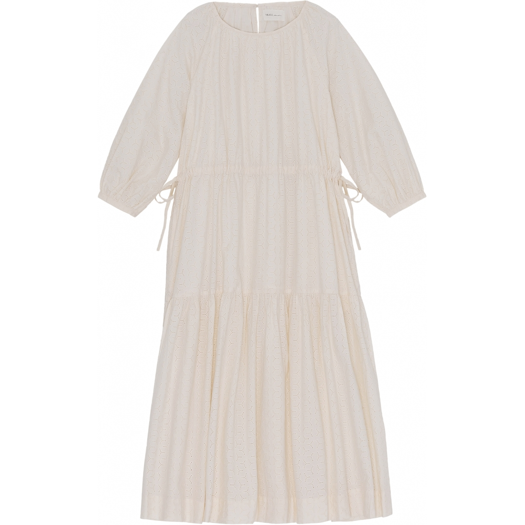 JACKIE DRESS SCHIFFLI LIGHT CREAM