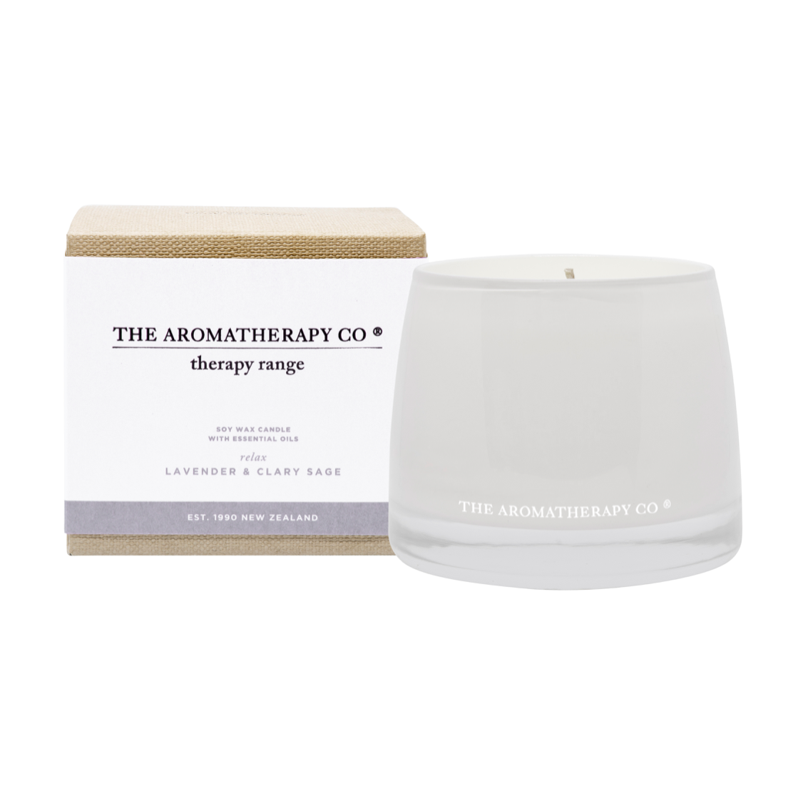 THERAPY CANDLE - RELAX - LAVENDER & CLARY SAGE