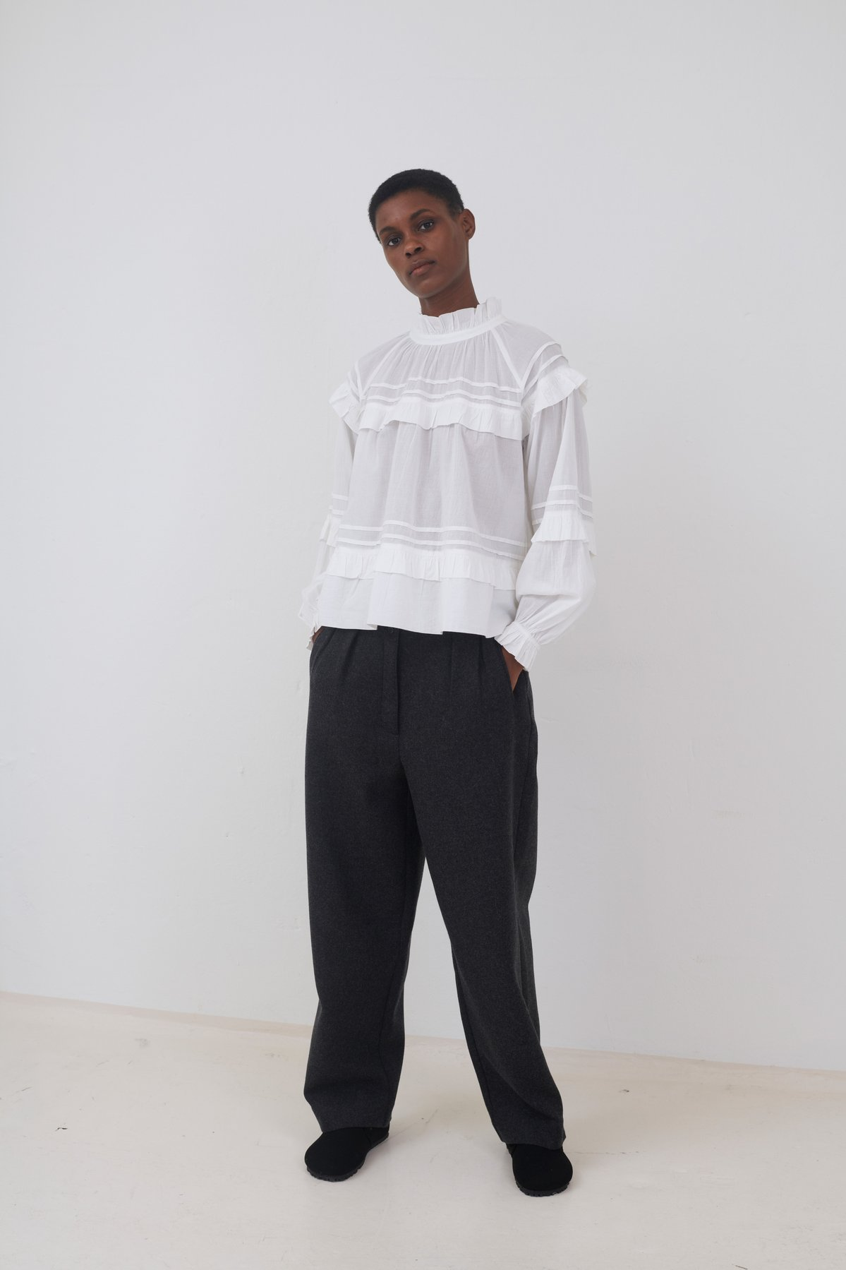 ASTER BLOUSE OFF-WHITE