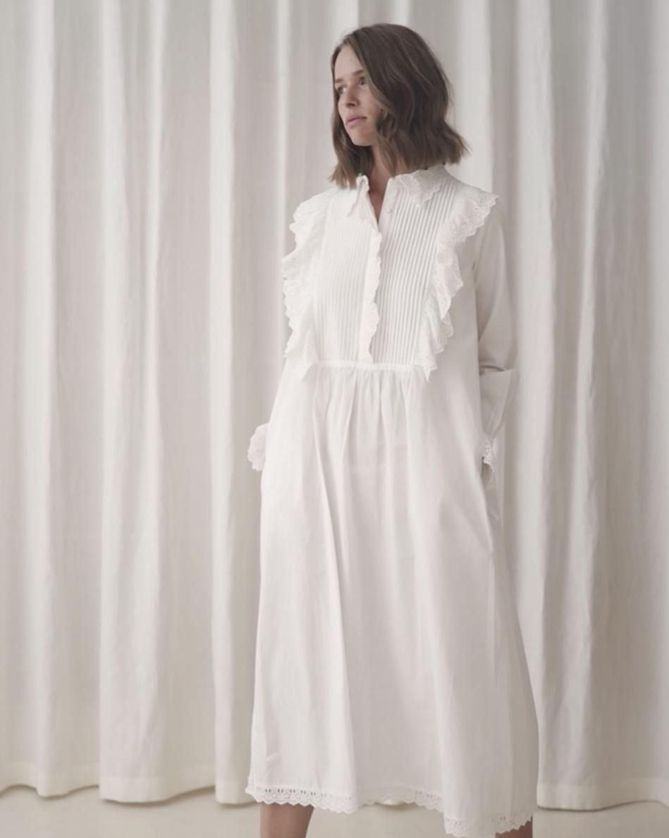 DAISY SHIRT DRESS OPTIC WHITE