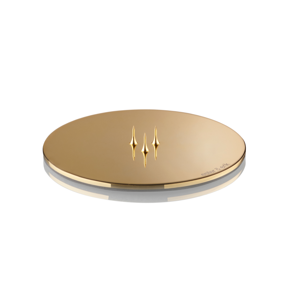 CANDLE PLATE SHINY GOLD