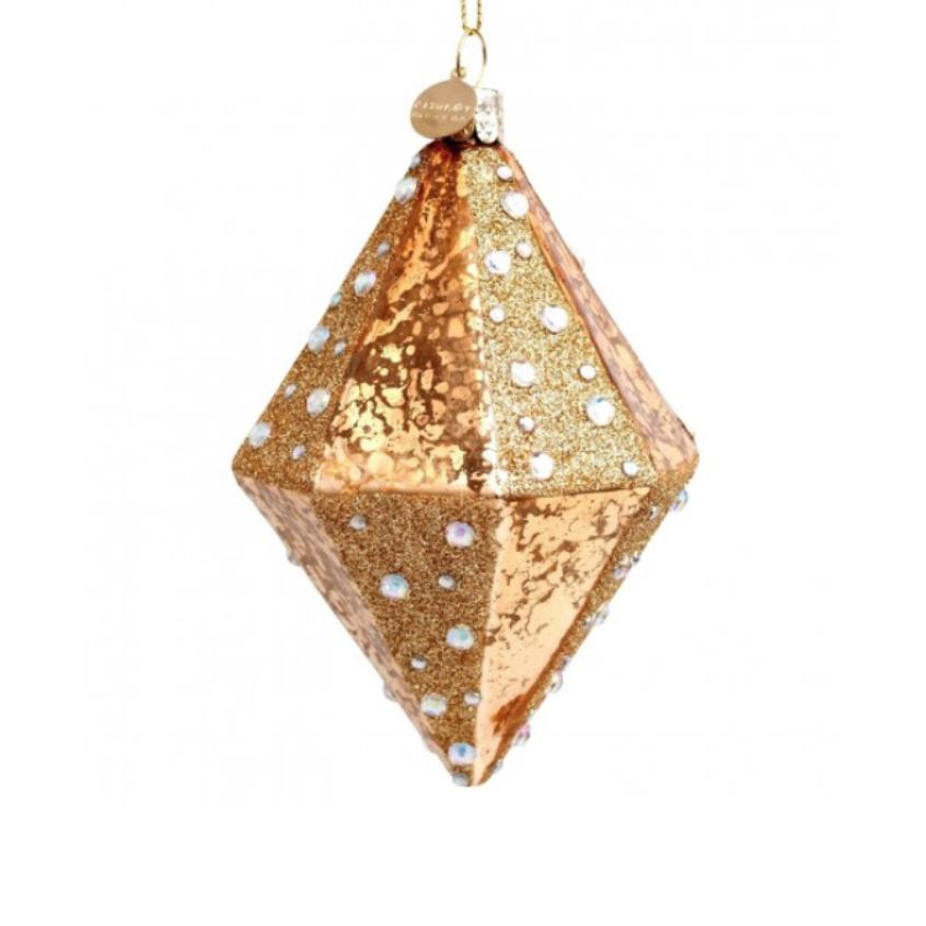 ORNAMENT GOLD MERCURE W/ DIAMONDS 12CM