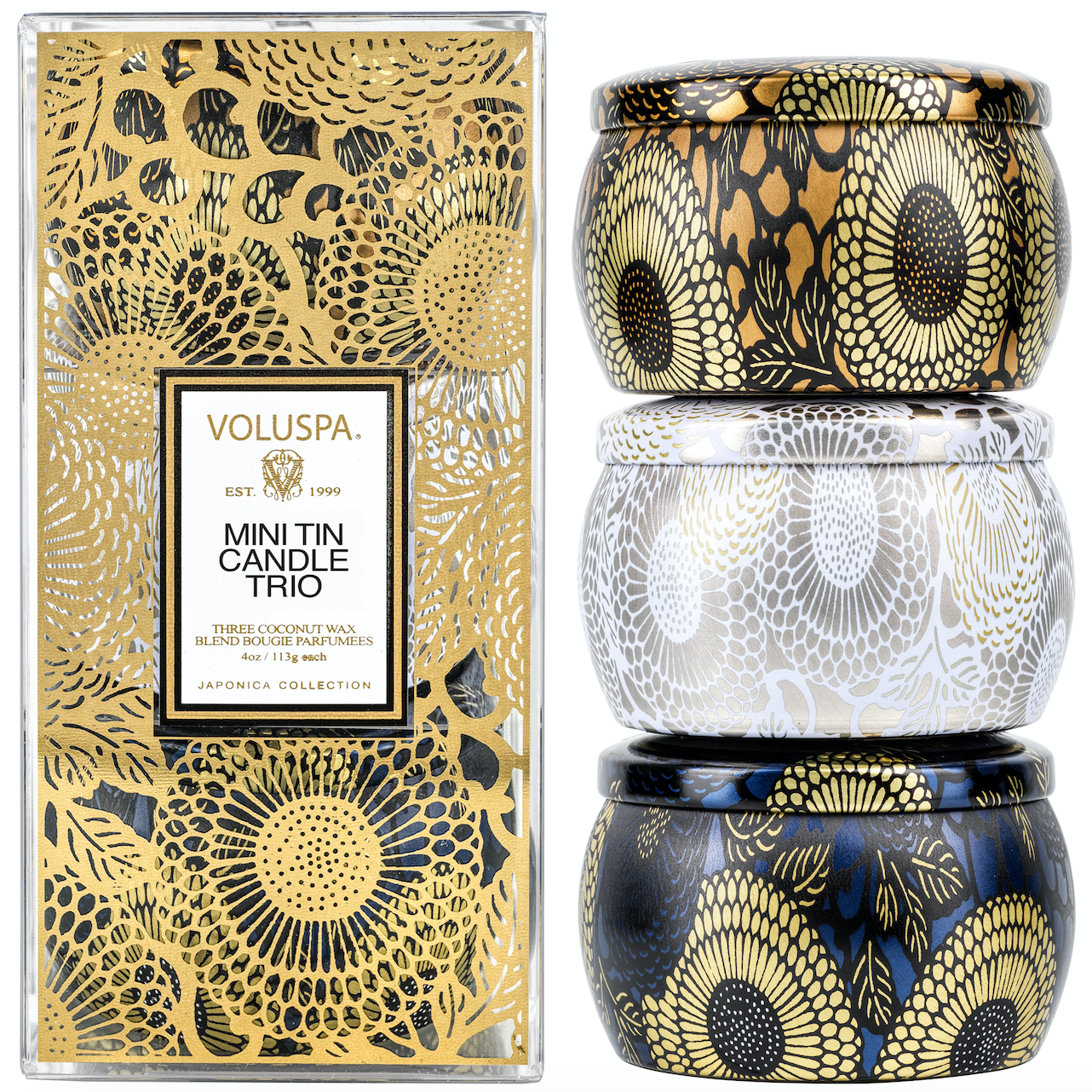 GIFT SET JAPONICA MINI TIN CANDLE TRIO