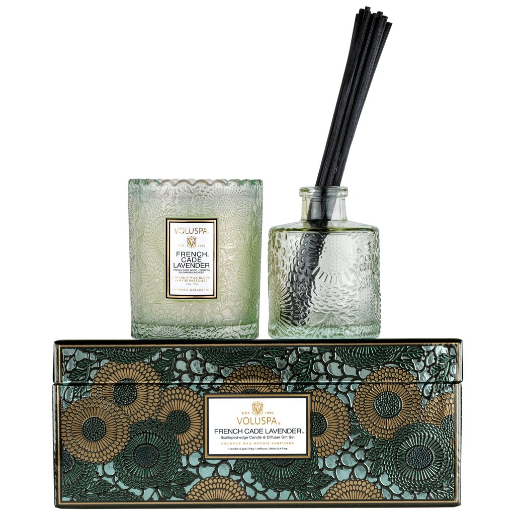 CANDLE & DIFFUSER GIFT SET FRENCH CADE LAVENDER