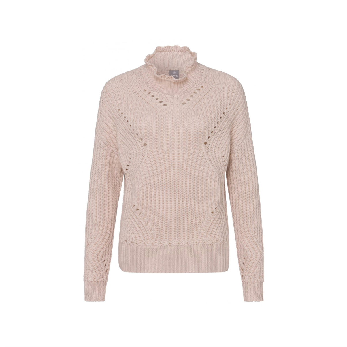 SWEATER WITH STAND-UP COLLAR
