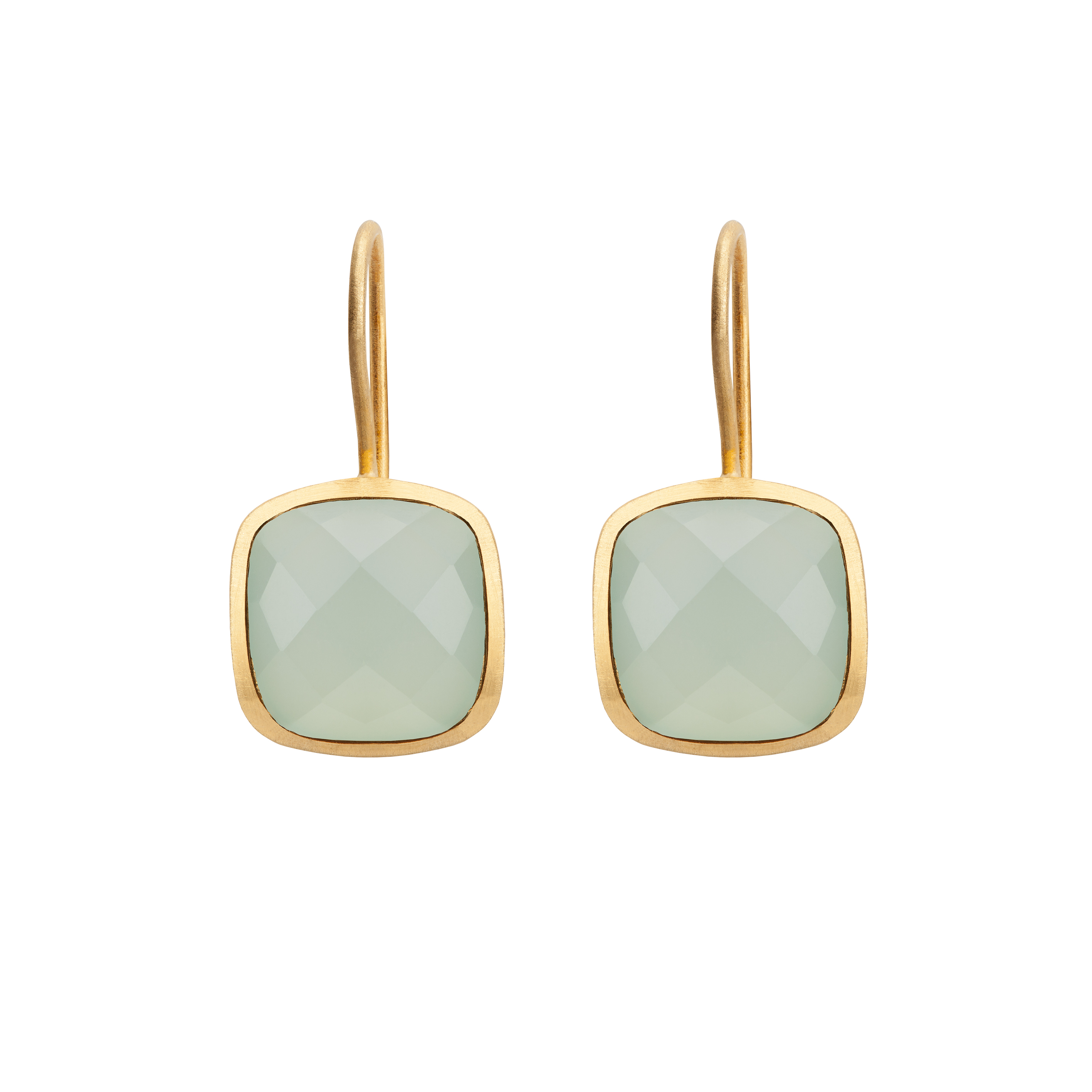 PALETTE EARRINGS AQUA CHALCEDONY