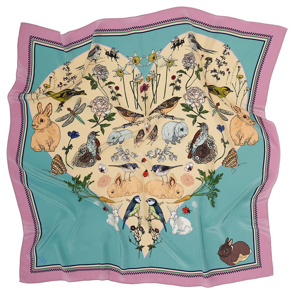 SPRING LOVE SILK SCARF