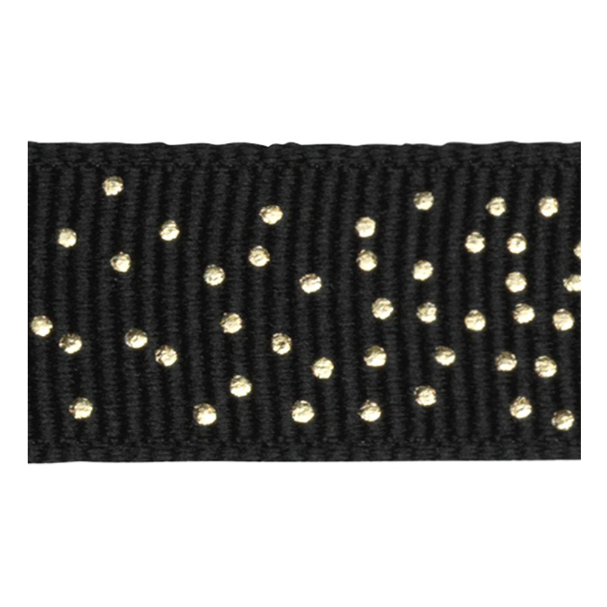 RIBBON BLACK WITH GOLD DOTS