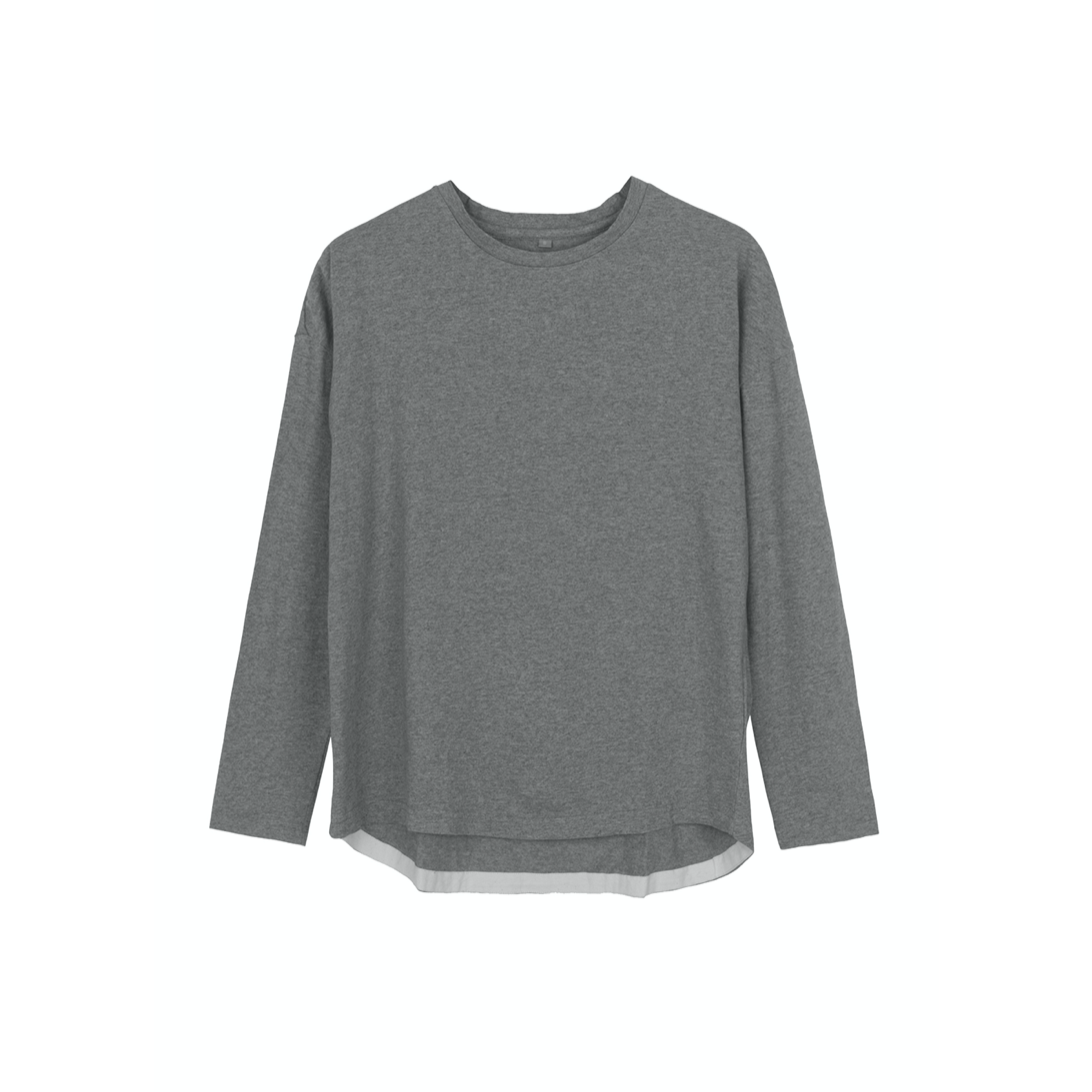 DROPPED SHOULDER TEE GREY MELANGE