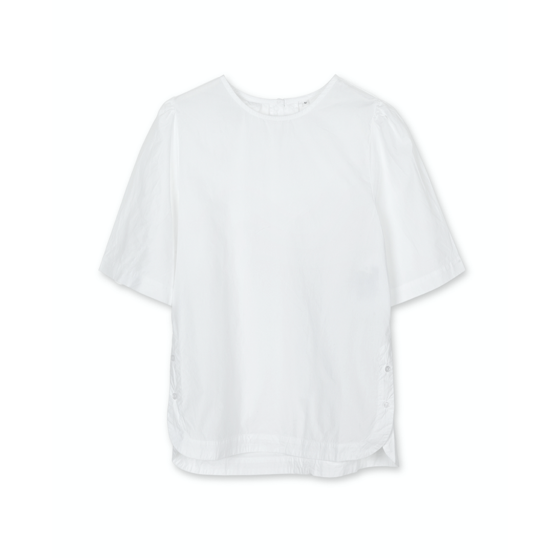 MIRABEL SHORT SLEEVE BLOUSE WHITE