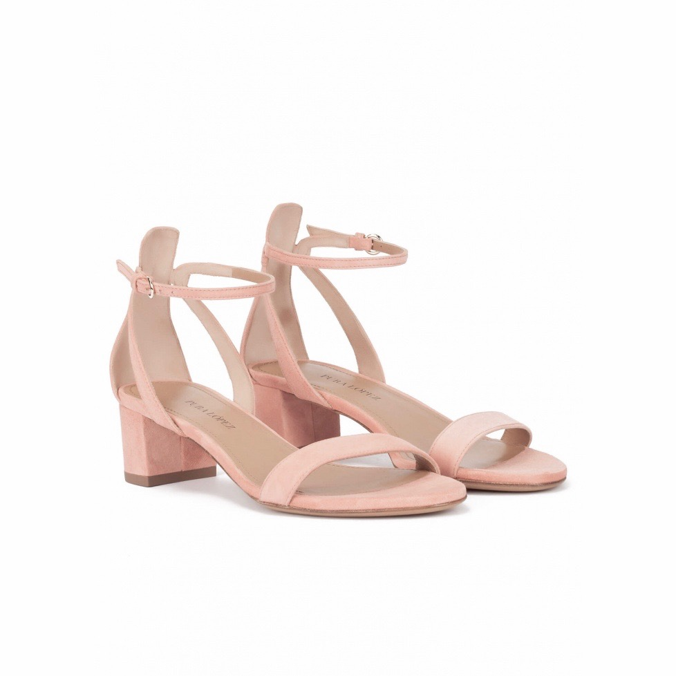 BLOCK HEEL SANDALS NUDE