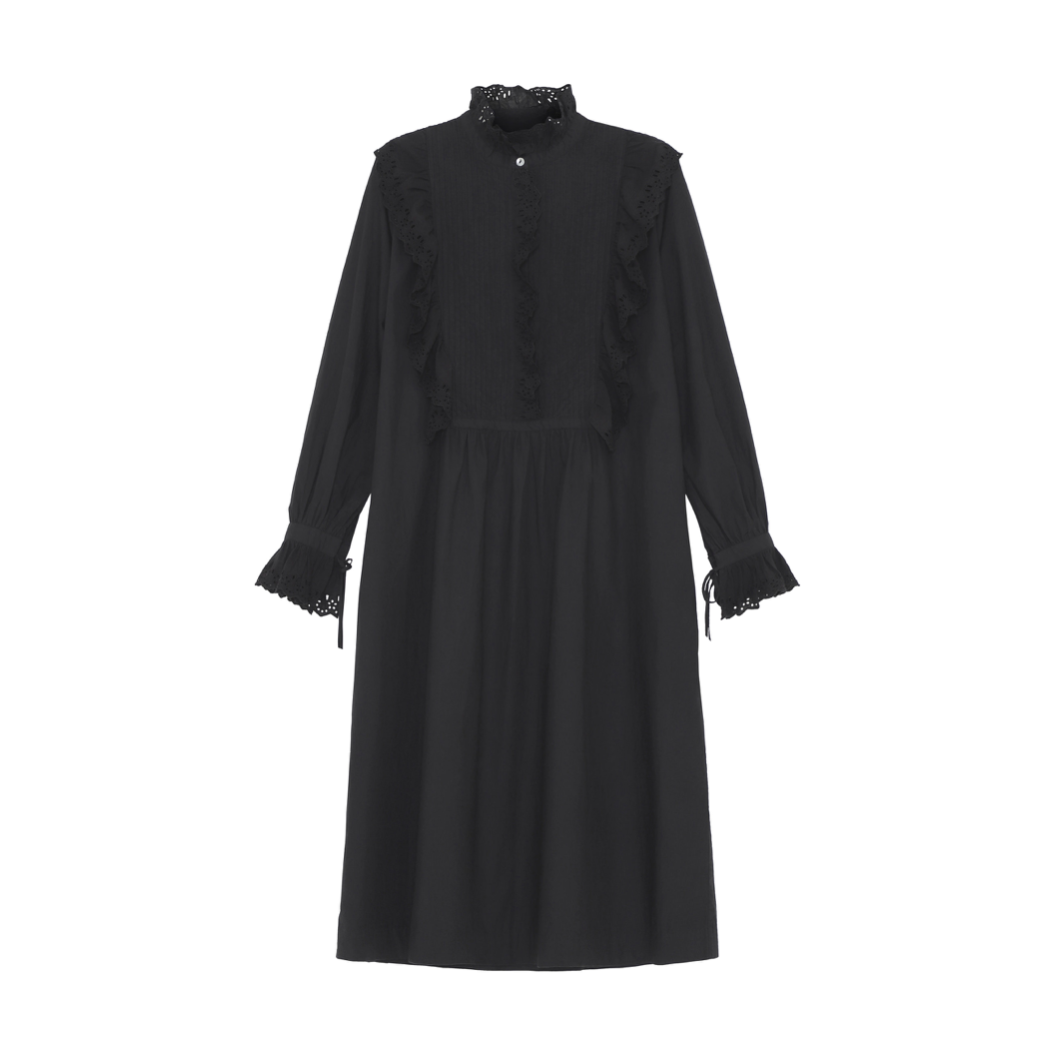 IRIS SHIRTDRESS IN ORGANIC COTTON BLACK