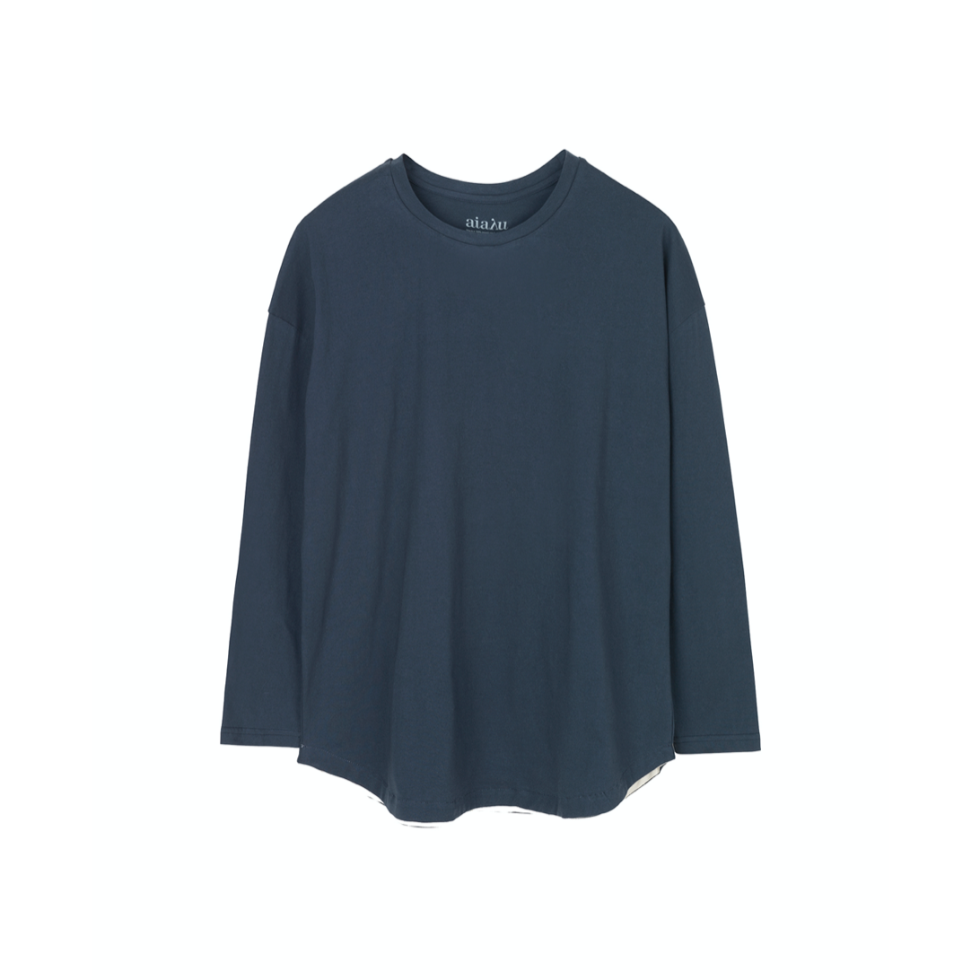 DROPPED SHOULDER TEE NAVY