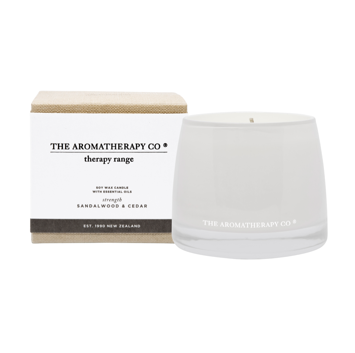 THERAPY CANDLE - STRENGTH - SANDALWOOD & CEDAR