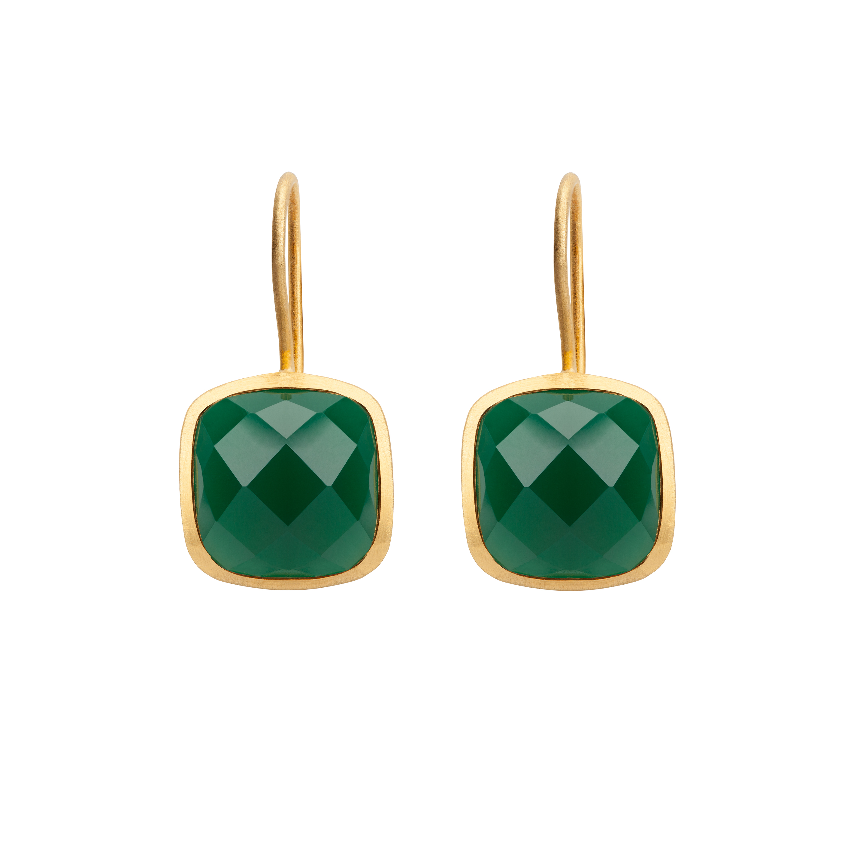 PALETTE EARRINGS GREEN ONYX