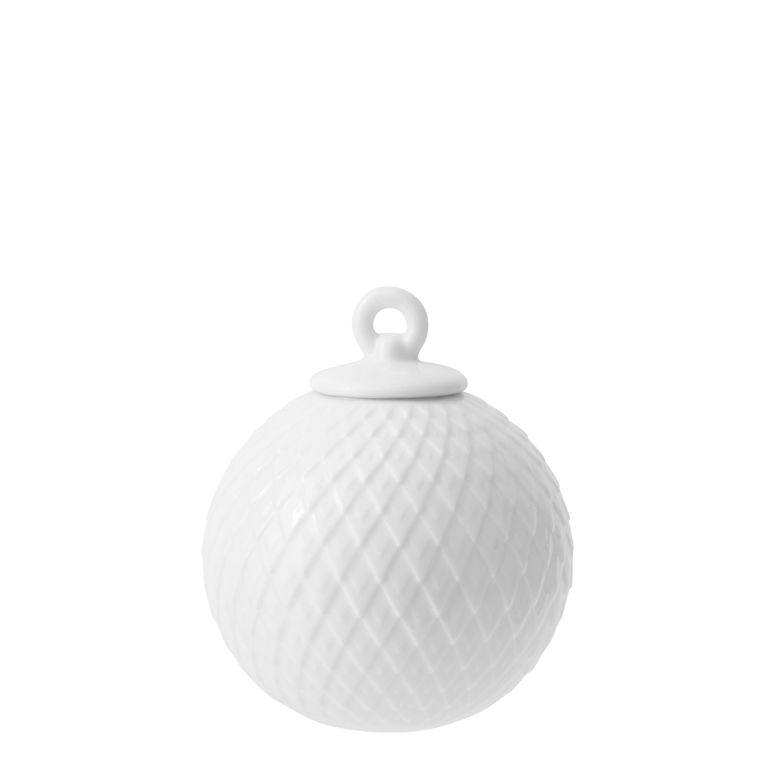 DECORATION BAUBLE WHITE