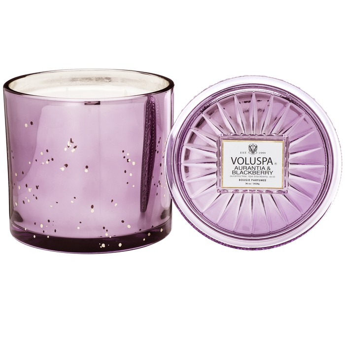 AURANTIA & BLACKBERRY GRANDE MAISON 3 WICK GLASS CANDLE