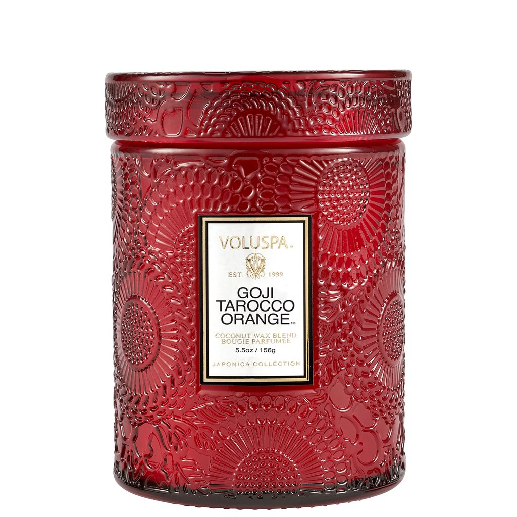 GOJI TAROCCO ORANGE SMALL JAR CANDLE